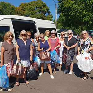 Social group - Baw Baw Food Relief Volunteers with shopping